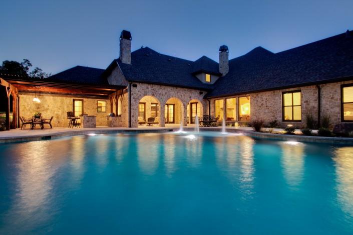 Large Pool Backyard Sterling Brook Custom Homes