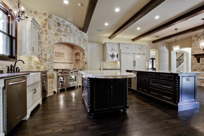 Rustic Kitchen Sterling Brook Custom Homes