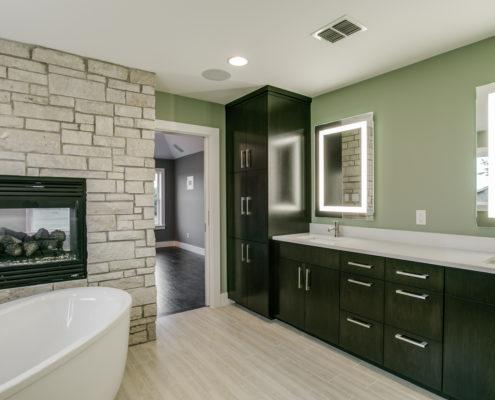 Master Bathroom Standing Tub Sterling Brook Custom Homes