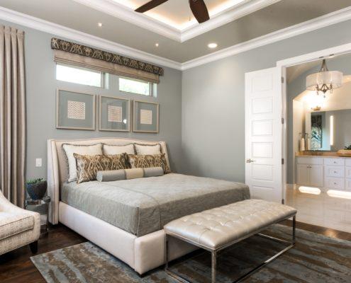 Village Park Master Bedroom With Lights Sterling Brook Custom Homes